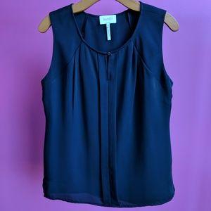 Laundry by Shelli Segal Sleeveless Black Top